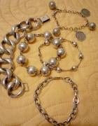 srebrne bransoletki kule charmsy i nie tylko