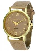 Pikowany Beżowy Zegarek...