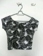 Crop top krótka koszulka palmy cubus hit