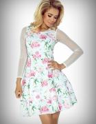 Sukienka tiulowe rekawy S M