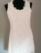 Sukienka tunika koronkowa 36 S bawełna...