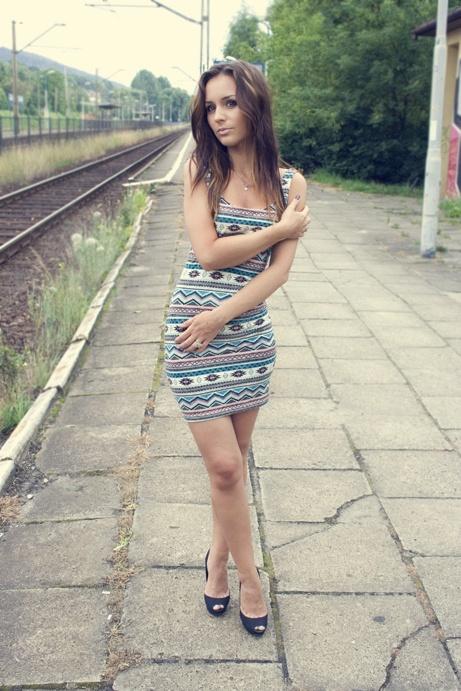 Suknie i sukienki Etniczna sukienka S