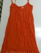 Pomarańczowa koktajlowa sukienka rozm L Next