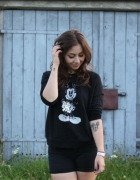 Kappahl S czarna bluza Mickey Mouse...