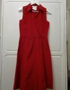 Sukienka kopertowa zakładana czerwona Max Mara...
