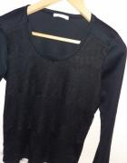 czarna bluzka z koronką S 36