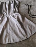 sliczna srebrna sukienka