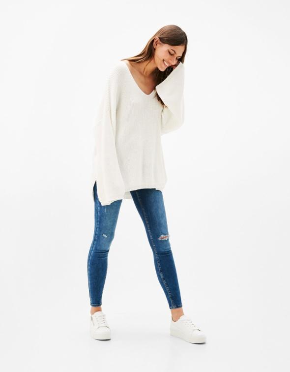 Bershka jeansy rurki