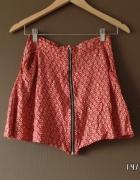 SINSAY spódniczka czerwona mini zamek zip S