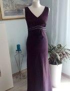 Suknia wieczorowa długa fioletowa r s m