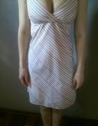 klasyczna letnia sukienka w paski