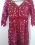 Sukienka koronka koronkowa gipiura jak NEW LOOK...