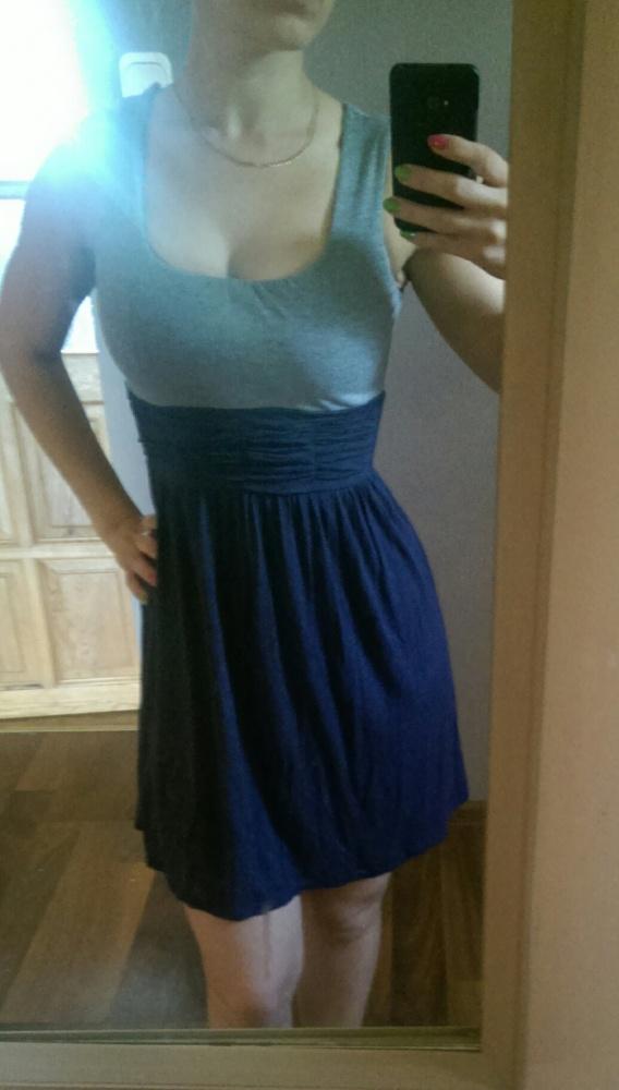 Suknie i sukienki swiewna letnia sukienka dwukolorowa