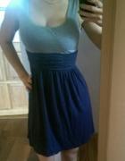 swiewna letnia sukienka dwukolorowa