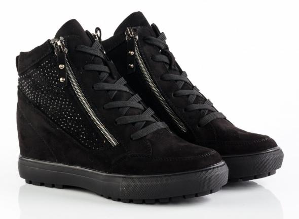 Botki czarne sneakersy