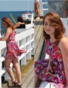 Stylizacja z kolorową sukienką...