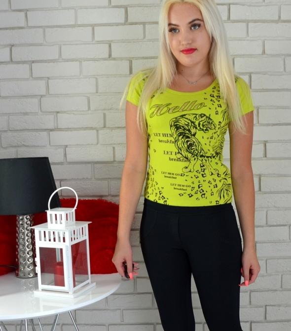 T-shirt Limonkowy tshirt wzorki