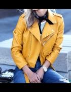 Kurtka ramoneska biker zara yellow S blogerska