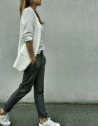 new Look trousers eleganckie luźny materiał