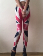 Legginsy ze wzorem angielskiej flagi