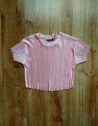 Plisowana koszulka Bershka S