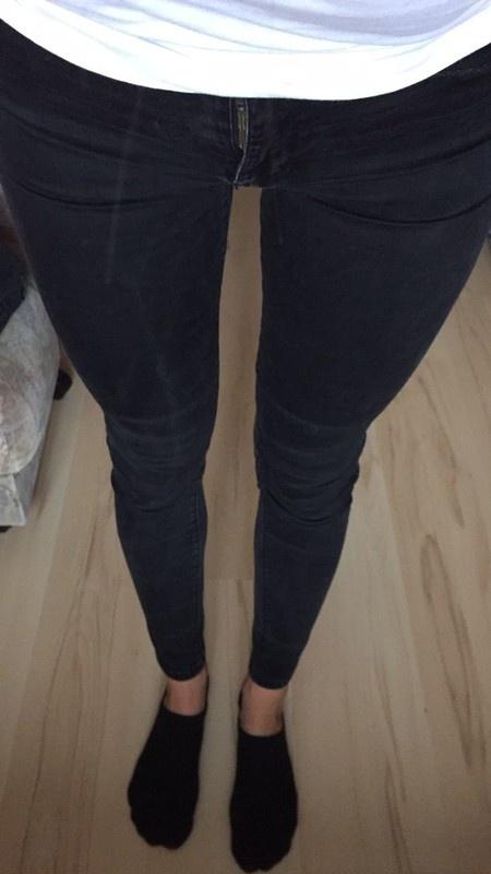 Spodnie spodnie rurki czarne bershka xs s wysoki stan