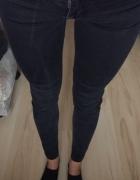 spodnie rurki czarne bershka xs s wysoki stan...