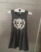 Sukienka czaszka lato xs h&m