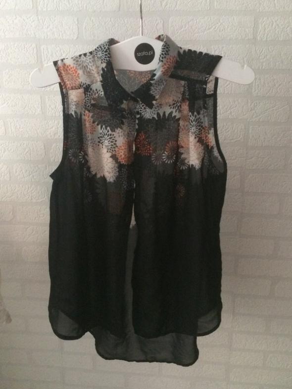 Czarna koszula xs h&m kwiaty