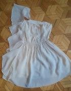 Sukienak na jedno ramię zwiewna asymetryczna...