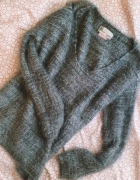 sweterek bershka szary włochaty fluffy m s 36 38