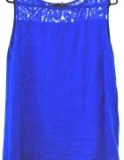 niebieska ładna bluzka na ramiączkach 14 XL 42
