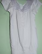 biała elegancka bluzka S M...