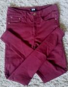 spodnie rurki burgundowe S bikbok