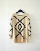Aztec sweter romwe etniczne wzory