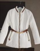 Płaszczyk płaszcz biały pikowany Moncler s 36 m 38...