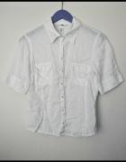 Biała lniana koszula H&M...