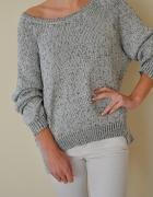 Szaro srebrny sweter HiM