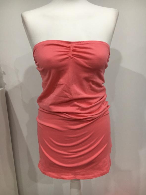 Terranova łososiowa sukienka tunika na lato...
