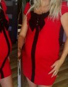 SAVIDA piękna czerwona sukienka ciążowa r 40...