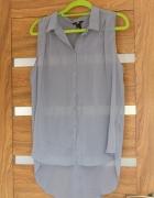 Bluzka mgiełka na guziczki SZARA z H&M
