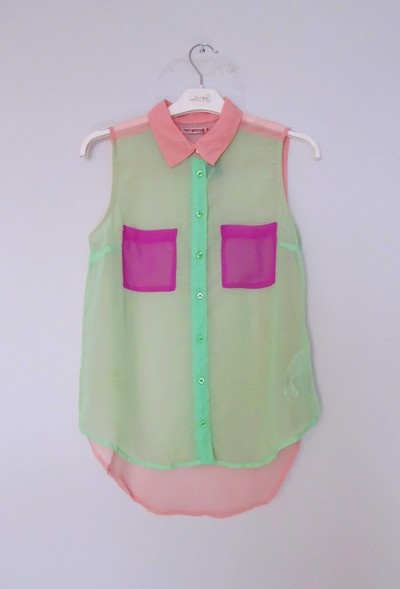 Pastelowa koszula mgiełka Terranova XS S
