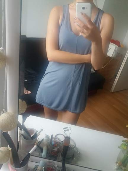 sukienka HM szara