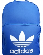 adidas Originals niebieski plecak z białym logiem...