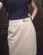 spódnica elegancka kremowa beżowa