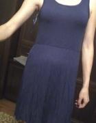 sukienka granatowa