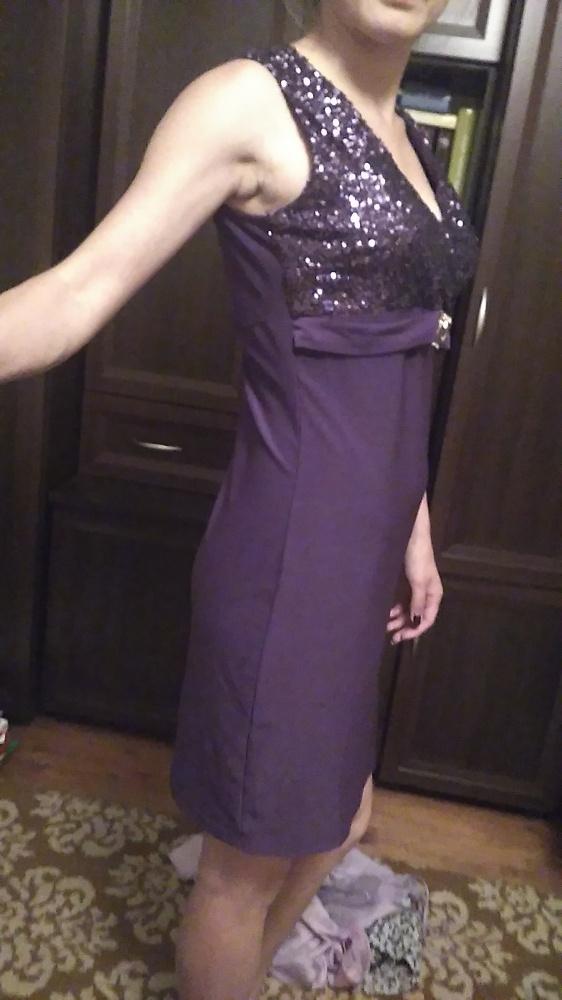 Suknie i sukienki sukienka fioletowa cekiny