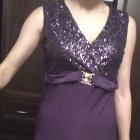 sukienka fioletowa cekiny