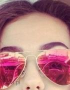 Okulary aviatorki pilotki różowe