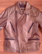 Metalizowana skórzana kurtka Splash